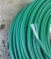 Polyurethane rods green colour with core in nylon threads 6mm 7mm 8mm