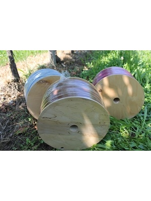 PVC Tying tube on wooden spools